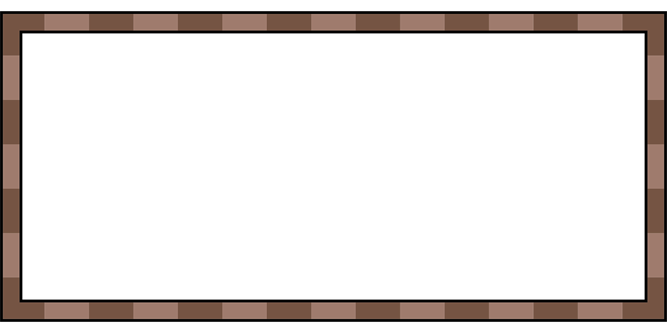 frame border rectangle blank brown element
