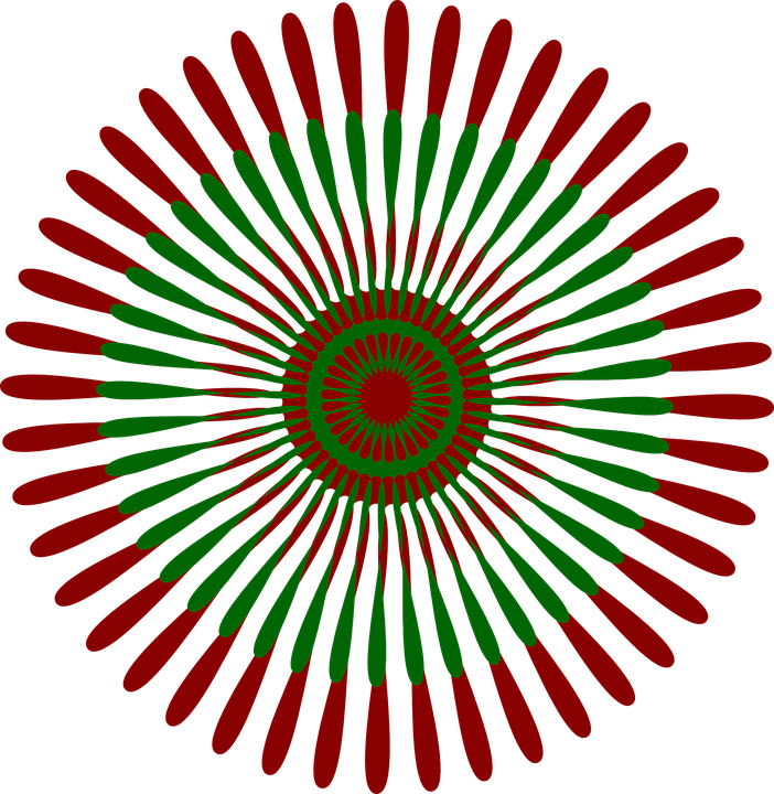 pattern circular flower free vector graphic on pixabay