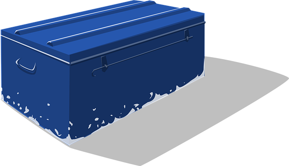 Cooler, Container, Box, Blue, Water, Ice