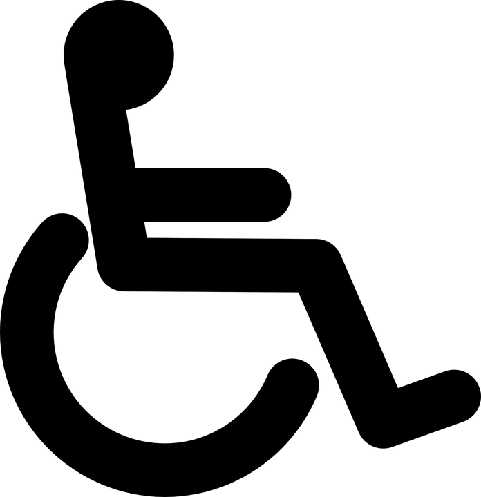wheelchair black handicap free vector graphic on pixabay rh pixabay com handicap parking vector symbol new handicap symbol vector