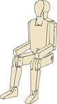 mannequin, sitting, man