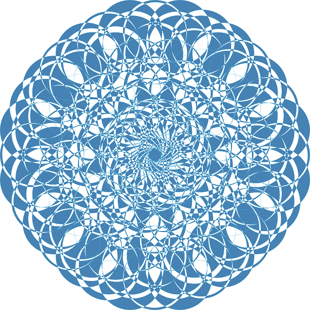 light blue lace mandala - photo #30