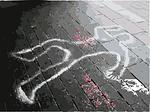 crime scene, dead, marks
