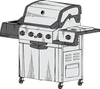 Barbecue Grill Propane Grilled Meal Cookin