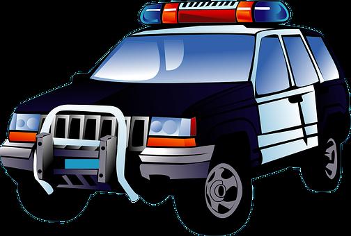Police, Car, Black, Transportation
