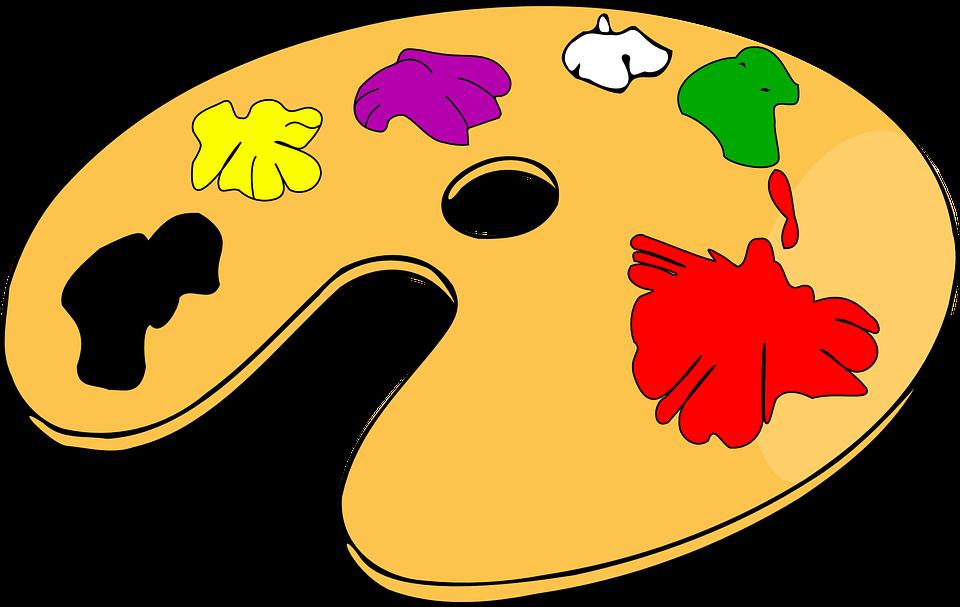 Image vectorielle gratuite palette peinture couleur for Artiste dessin