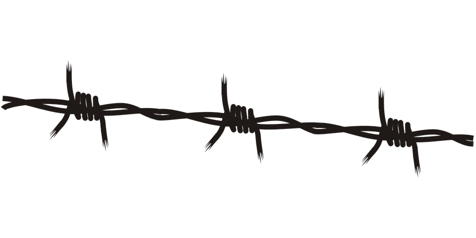 barb wire black free vector graphic on pixabay rh pixabay com barbed wire vector brush barbed wire vector free