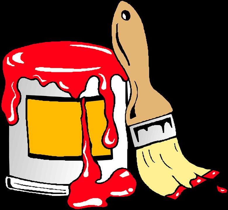 paint brush tin free vector graphic on pixabay rh pixabay com  free paint brush clip art