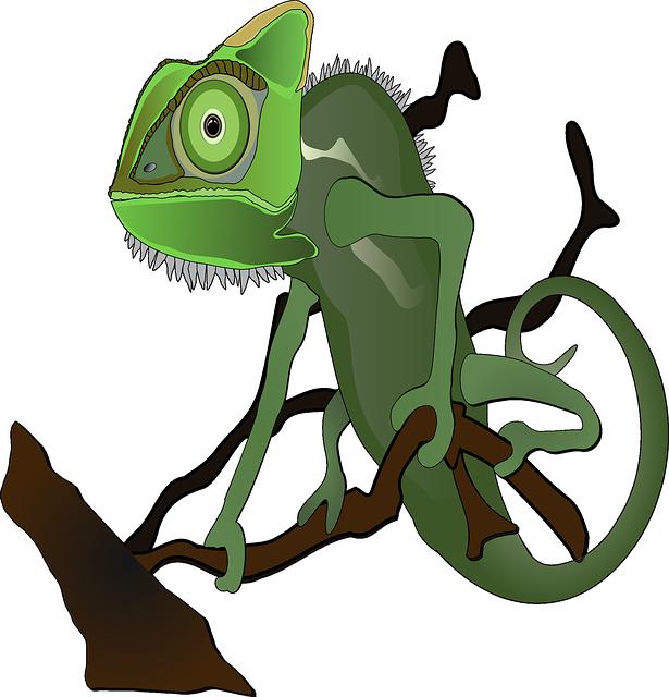 Chameleon tongue clipart
