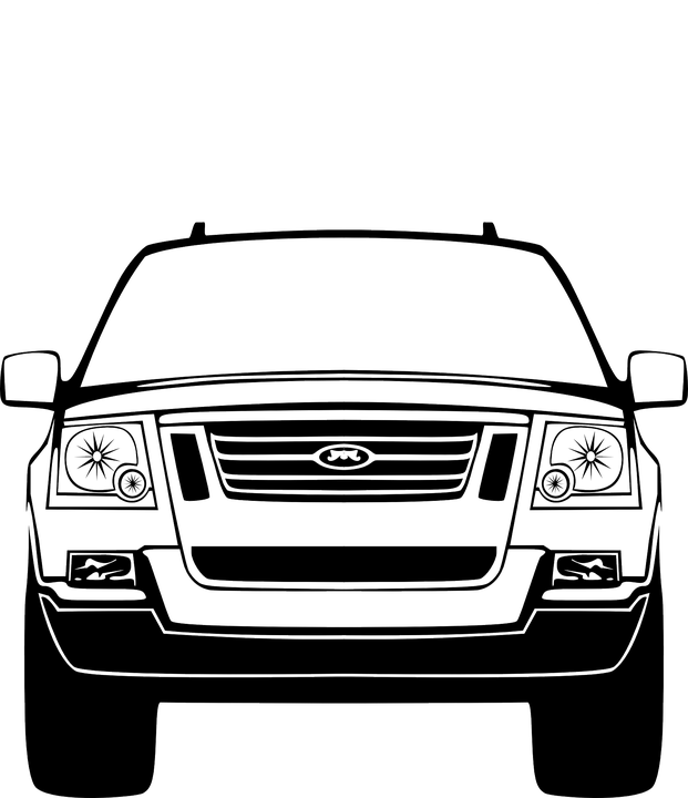 Free Vector Graphic Suv Suburban Front Vehicle Free Image On