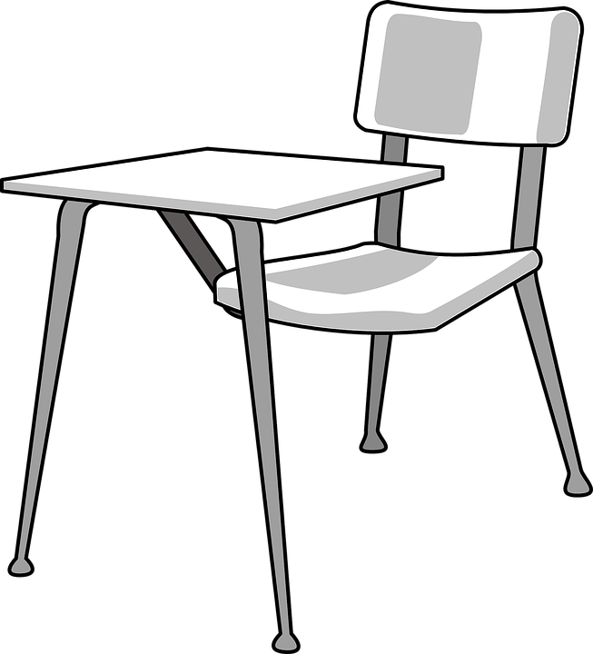 Desk Student School Chair Empty