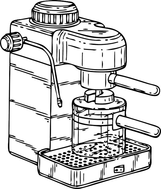 Free vector graphic coffee machine espresso maker for Online drawing maker