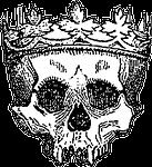 crown, king, skull