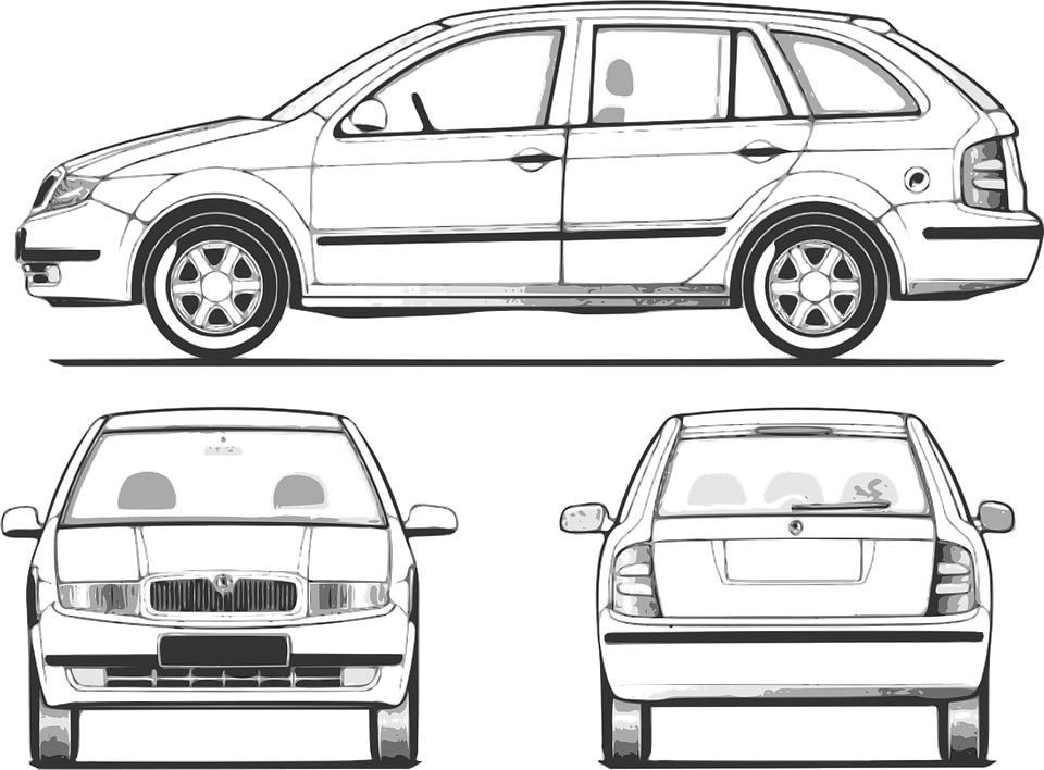 Free vector graphic automobile car suv station wagon for Station wagon coloring pages