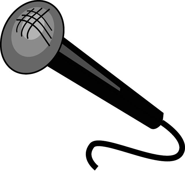 Microfone Black Desenhos Animados · Gráfico vetorial ...