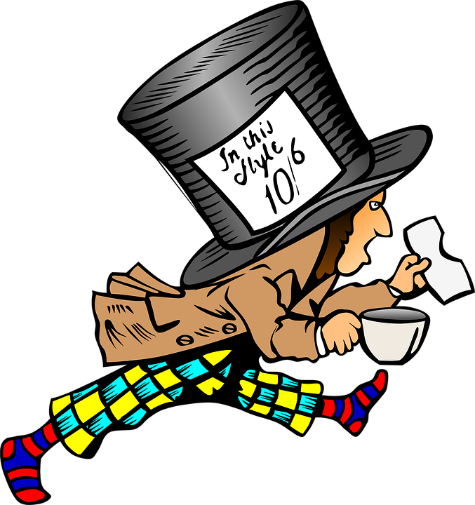 64c3727eb8a Mad Hatter Drawing Cartoon - Free vector graphic on Pixabay