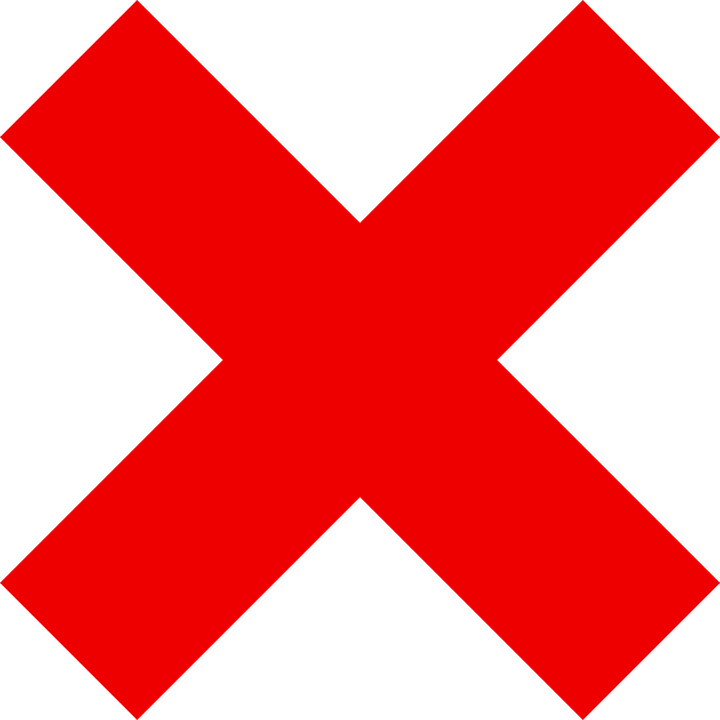 red letter x made with ink mark grunge style vector
