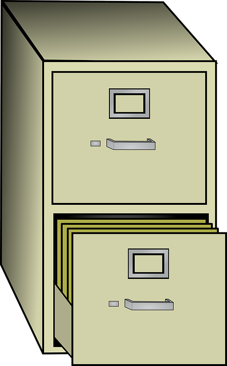 Free vector graphic filing cabinet metal office free for Cartoon kitchen cabinets