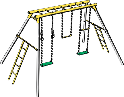 Swing Set, Playground, Toys, Kids, Play