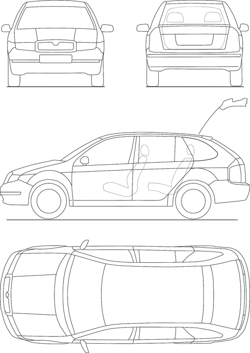Blueprint Automobile Technical · Free vector graphic on Pixabay