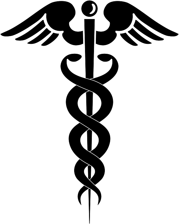 caduceus medical symbol free vector graphic on pixabay rh pixabay com Caduceus Symbol EPS Medical Snake Vector