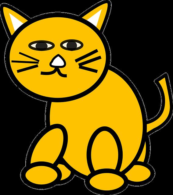 Vector gratis: Gato, Dibujos Animados, Amarillo - Imagen ...