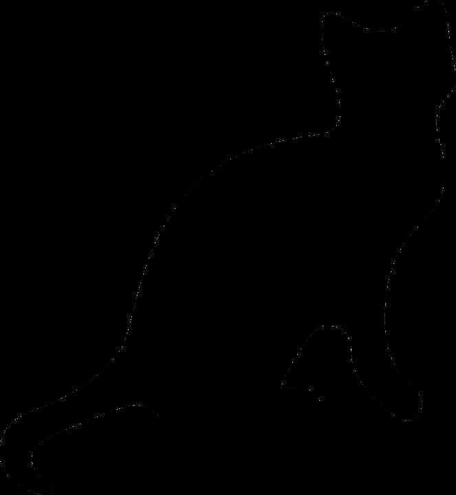 silueta de gato negro - photo #13