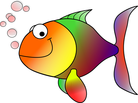 Goldfish, Fish, Koi, Carp, Cartoon Fish
