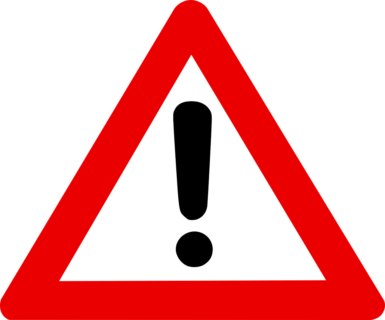 三角形警告指示牌
