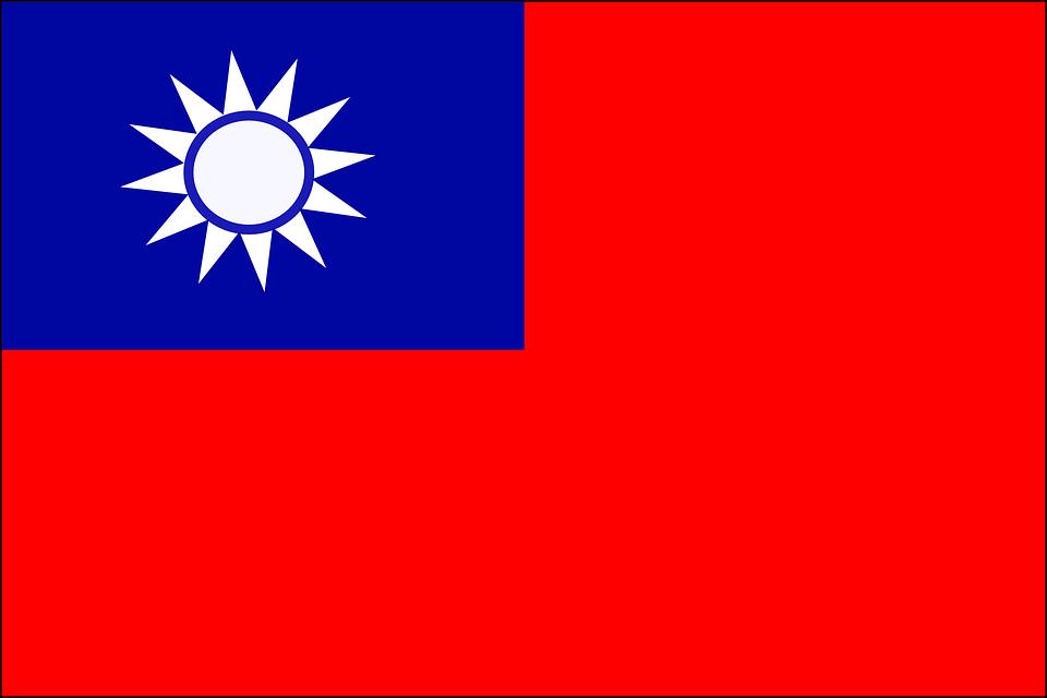 Drapeau, Taiwan, Officiel, Taïwanais, Roc, Pays, Asie