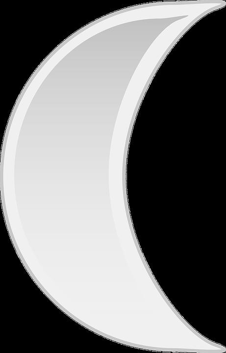 Luna Cuarto De Fase Lunar - Gráficos vectoriales gratis en Pixabay