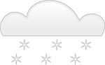 snow, cloud, fall
