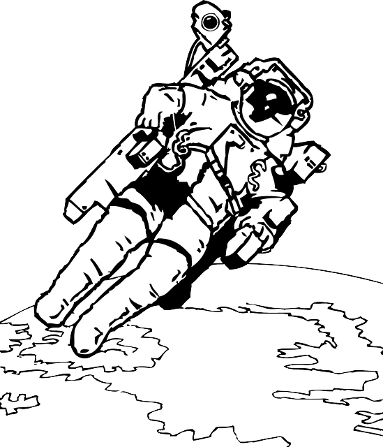 Astronaut Space Walk U00b7 Free Vector Graphic On Pixabay
