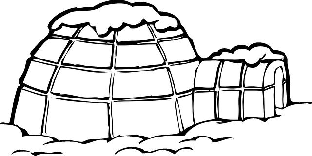 igloo ice snow  u00b7 free vector graphic on pixabay