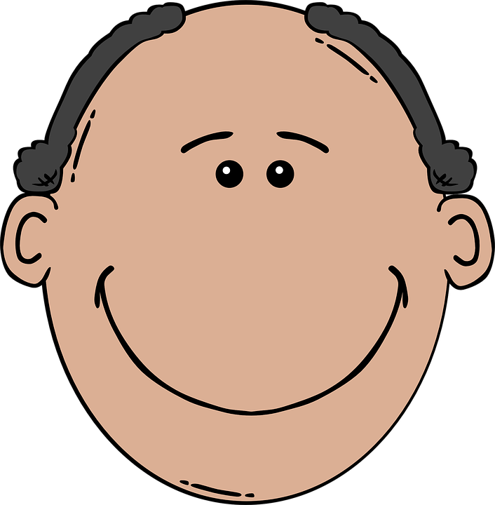 Balding Man Face 183 Free Vector Graphic On Pixabay