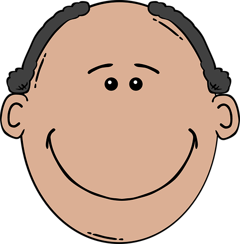 Balding, Człowiek, Twarz, Brown, Głowy