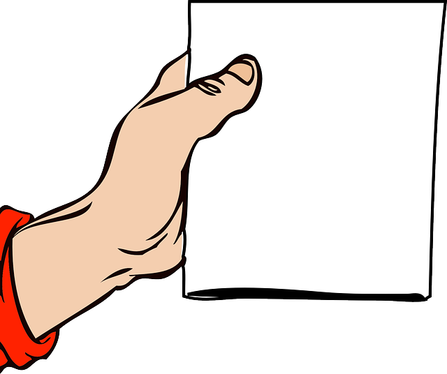 Free vector graphic: Note, Hand, Holding, Blank - Free ...