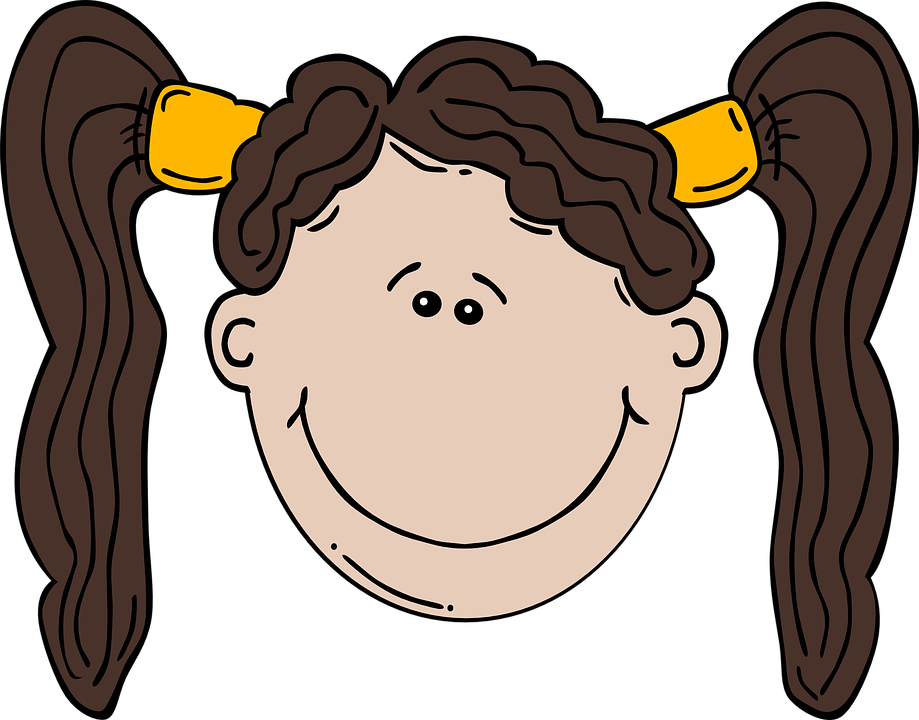 Ponytails Girl Face · Free vector graphic on Pixabay   919 x 720 png 255kB