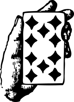 Card, Ten, Diamonds, Hand, Game, Poker