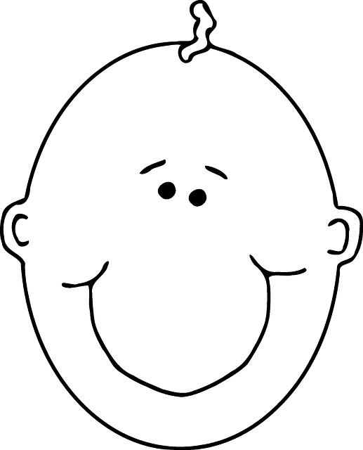 Gratis Vectorafbeelding Baby Kale Hoofd Lachend