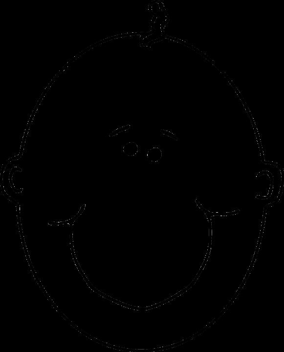 Kleurplaat Kale Kerstboom Kostenlose Vektorgrafik Baby Glatze Kopf L 228 Chelnd