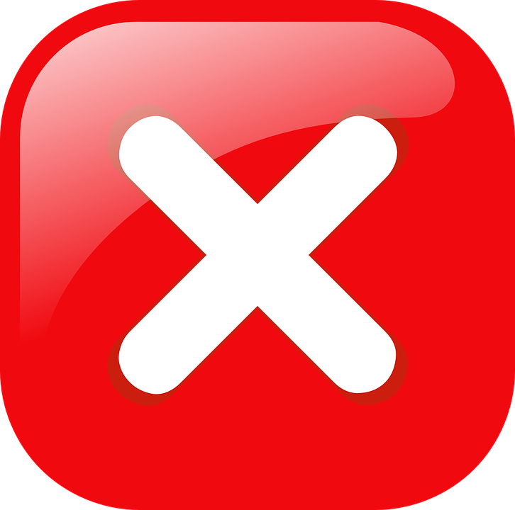 Free vector graphic: Button, Stop, Red, Cross, Warning - Free Image on ...
