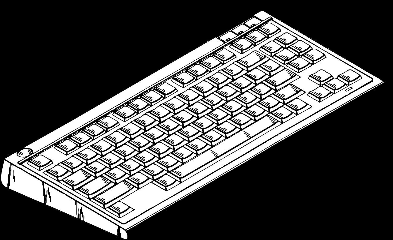 Клавиатура черно белая картинка