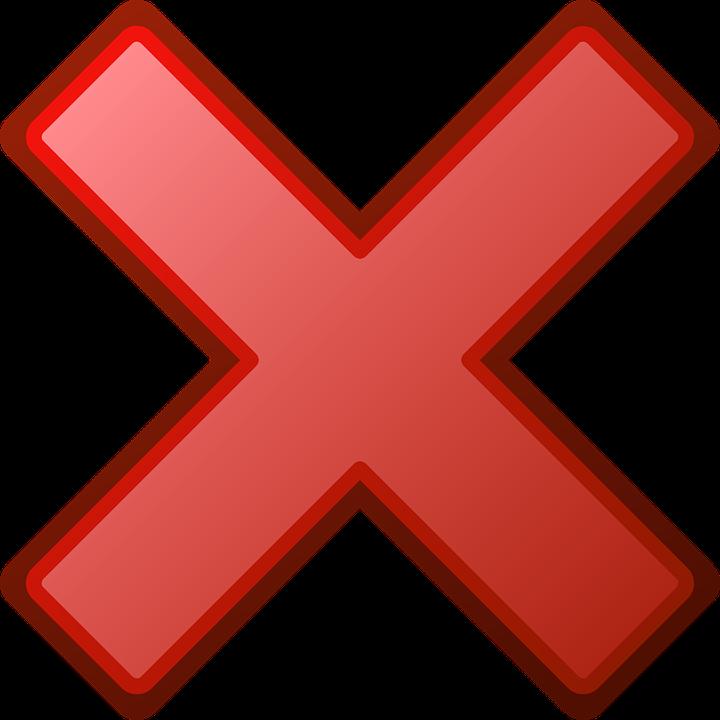 Red Cross Error Free Vector Graphic On Pixabay