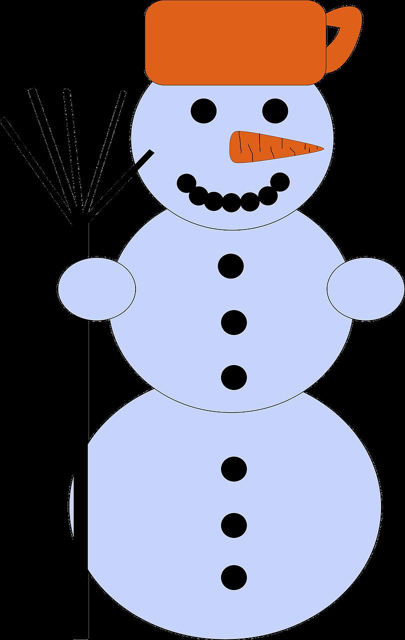Ведро из бумаги для снеговика