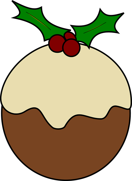 Free Clipart Christmas Cake : Free vector graphic: Pudding, Christmas, Cake, Holly ...