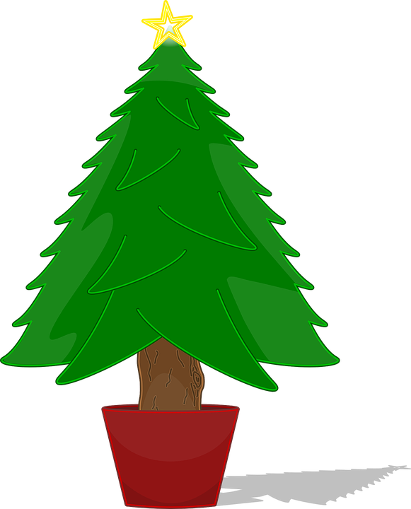 Free vector graphic: Christmas, Tree, Star, Tree Topper - Free ...