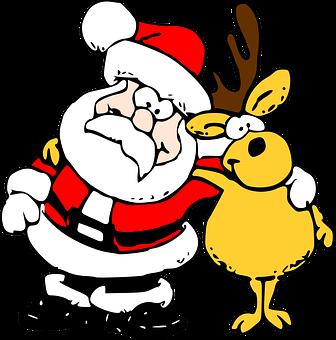 Santa, Renar, Shristmas, Levererar