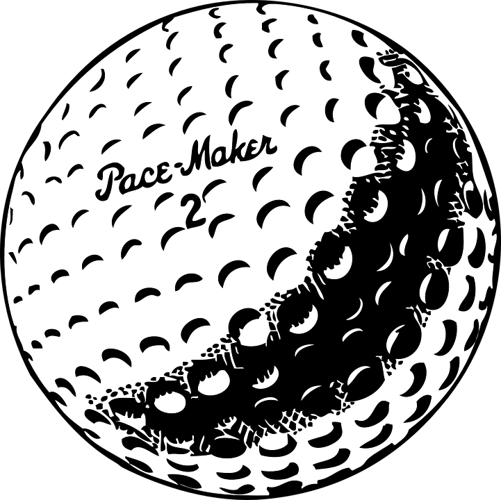 golf ball white free vector graphic on pixabay