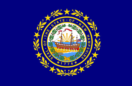 New, Hampshire, Flag, State, Usa, Us